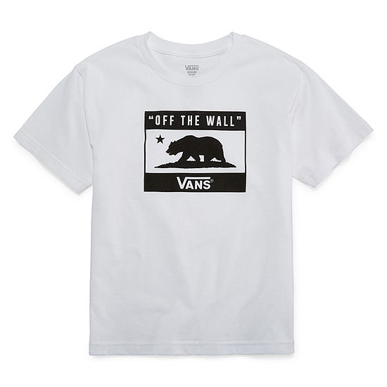 Vans Big Boys Crew Neck Short Sleeve Graphic T-Shirt