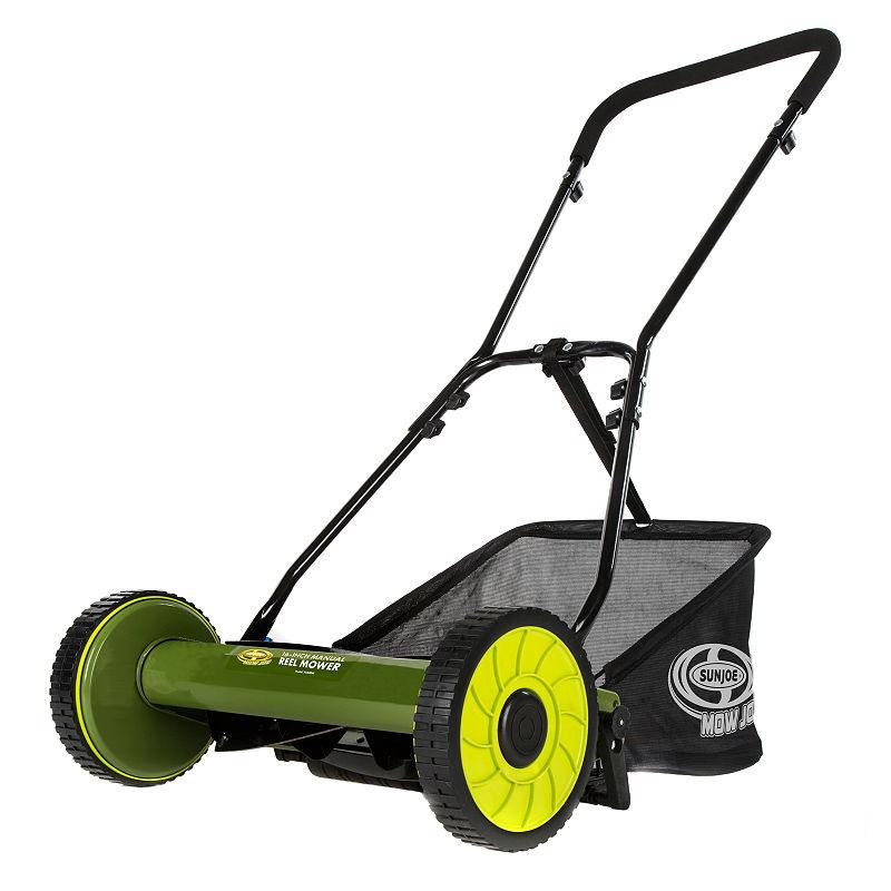 Sun Joe 16-Inch Manual Reel Mower With Catcher - Snow Joe/Sun Joe - Push Mowers - Green - Green