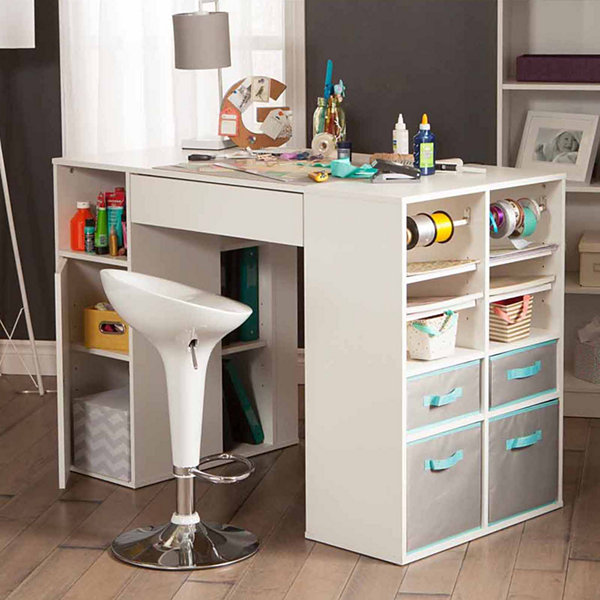 High Quality Crea Counter Height Craft Table With Storage