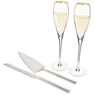 Cathy's Concepts Personalzie 4-pc. Personalized Champagne Flutes