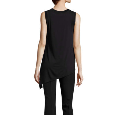 Worthington Sleeveless Asymmetrical Tank