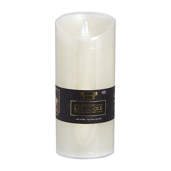 Sharper Image Candle Led W/ Timer 4x6 Flicker Flameless Candle