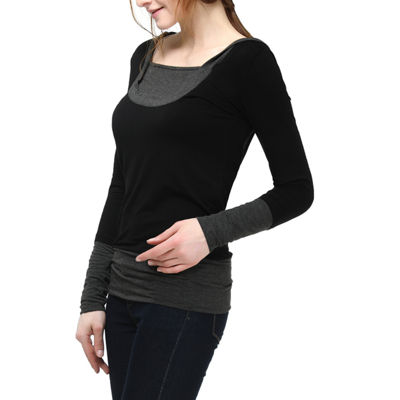 "Phistic Women's ""Lisa"" Knit Hoodie Top"