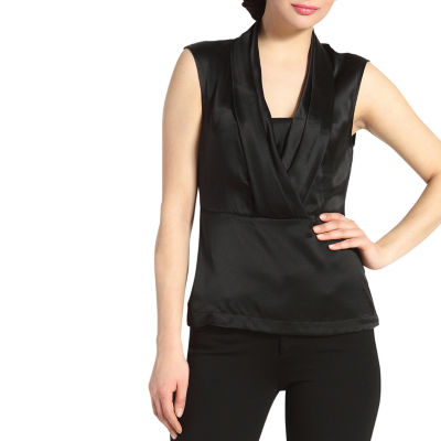 Phistic Women's 'Lori' Drape Neck Silk Top