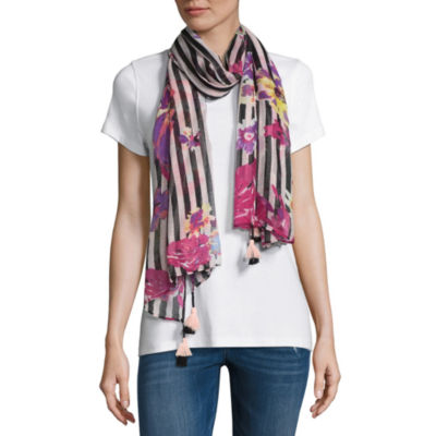 Mixit Chiffon Oblong Floral Scarf