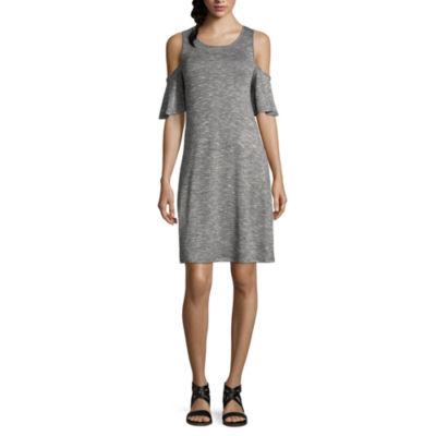 a.n.a. Cold Shoulder Swing Dress