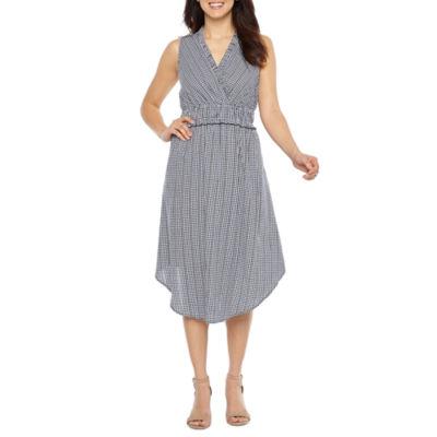 Sharagano Sleeveless Gingham Fit & Flare Dress