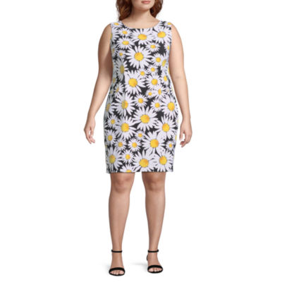 Ronni Nicole Sleeveless Floral Shift Dress - Plus
