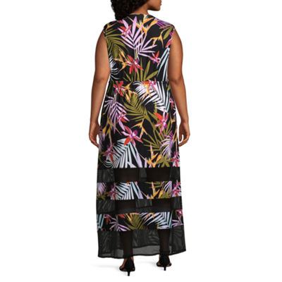 Spense Sleeveless Floral Maxi Dress - Plus
