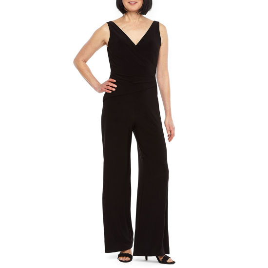 Black Label by Evan-Picone Sleeveless Jumpsuit