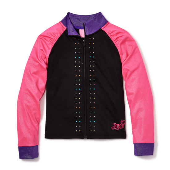 Jacques Moret Jojo Siwa By Danskin Girls Lightweight Track Jacket-Big Kid