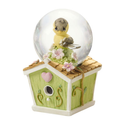 Precious Moments Mini Snow Globe Goldfinch Birdhouse