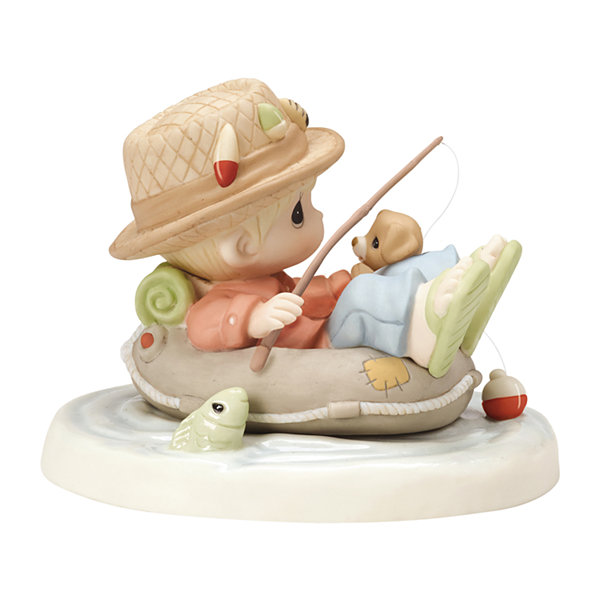 "Precious Moments  ""Good Things Come To Those Who Wait"" Bisque Porcelain Figurine"