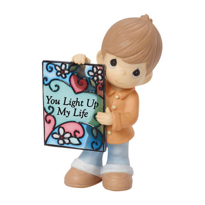 "Precious Moments ""You Light Up My Life"" Bisque Porcelain Figurine"
