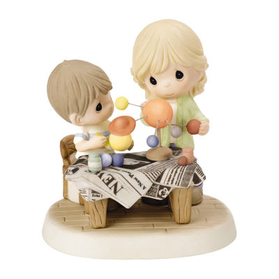 "Precious Moments ""You Mean The World To Me""Bisque Porcelain Figurine"