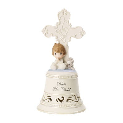 "Precious Moments  ""Bless This Child""  Bisque Porcelain Bell  Boy"