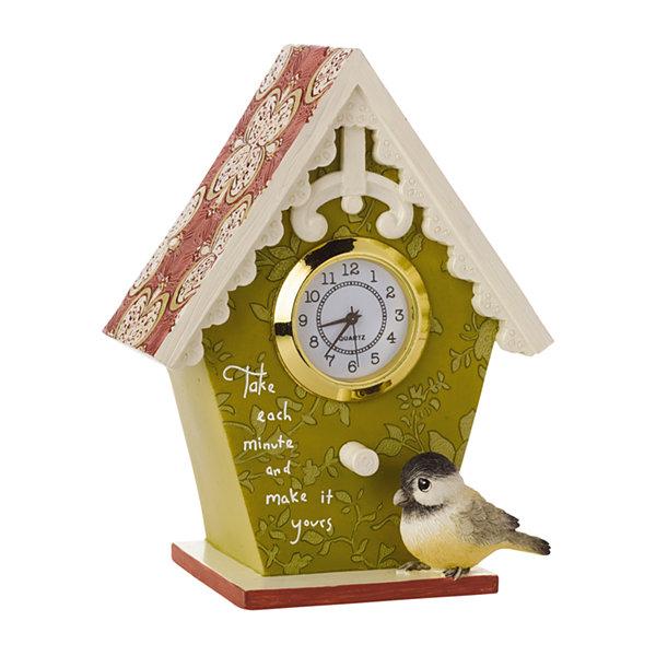 Precious Moments Decorative Birdhouse With Clock Home Decor