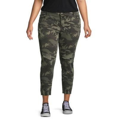 Unionbay Cropped Pants-Juniors Plus