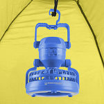 Wakeman Blue Portable 2 in 1 Ceiling Fan and 18 LED Camping Lantern