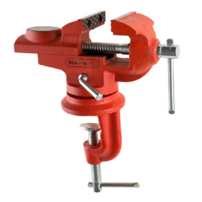 Stalwart 2.25 in. Jaw Universal Swivel Table Vise