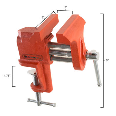 Stalwart 2.25 in. V Jaw Clamp Table Vise