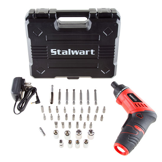 Stalwart 3.6V Lithium Ion Dual Position Cordless Screwdriver 40 Piece Set