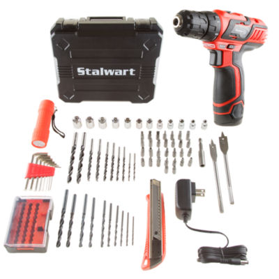 Stalwart 12V Lithium Ion Speed Drill 75 Piece Set