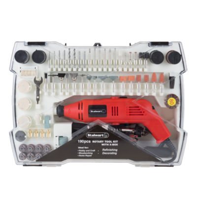 Stalwart Corded Rotary Tool Kit - 190 Piece