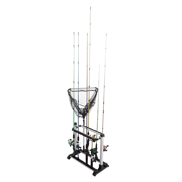 Wakeman Fishing Rack Aluminum Holder - 10 Rods