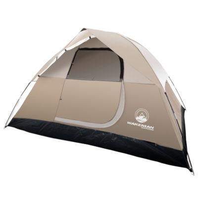 Wakeman Tan 4 Person Dome Tent