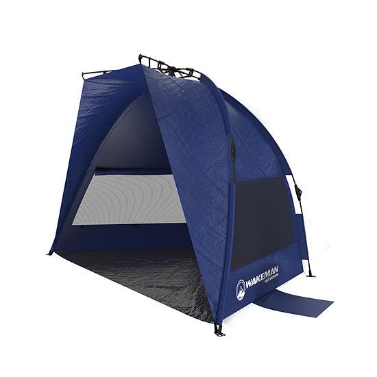 Wakeman Blue Pop-up Beach Tent and Sun Shelter