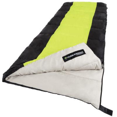 Wakeman Neon Green Sleeping Bag