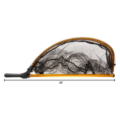 Wakeman 94 in. Collapsible Gold Fishing Net