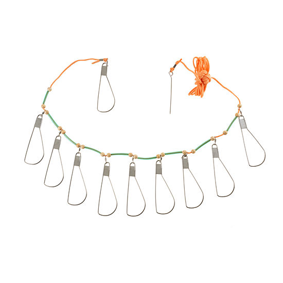Wakeman Fish Stringer With 10 Stainless Steel Hooks