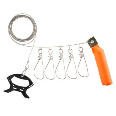 Wakeman Fish Stringer with 5 Stainless Steel Hooks