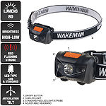 Wakeman Black 80 Lumen LED 4 Mode Headlamp
