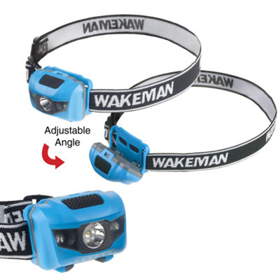 Wakeman Blue 80 Lumen LED 4 Mode Headlamp