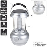 Wakeman Silver 180 Lumen 12 LED Lantern with Dimmer Switch