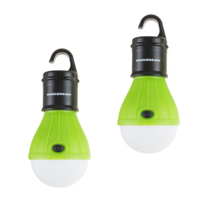 Wakeman Green Portable LED Light Bulb - 2 Pack