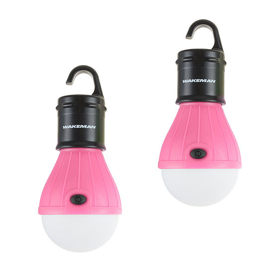 Wakeman Pink Portable LED Light Bulb - 2 Pack
