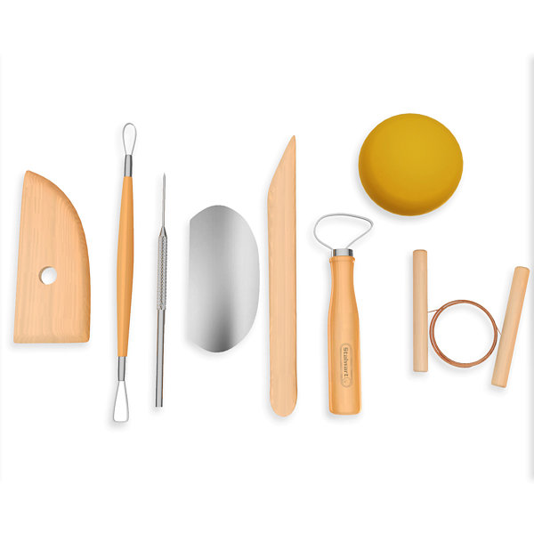 Stalwart Pottery Tool Kit - 8 Piece