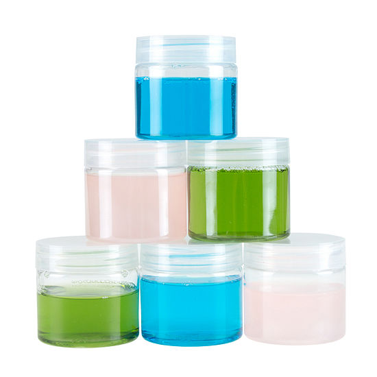 Stalwart 2 Oz Clear Plastic Jar Containers 6 Pack
