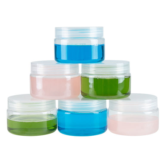 Stalwart 4 oz. Clear Plastic Jar Containers - 6-Pack