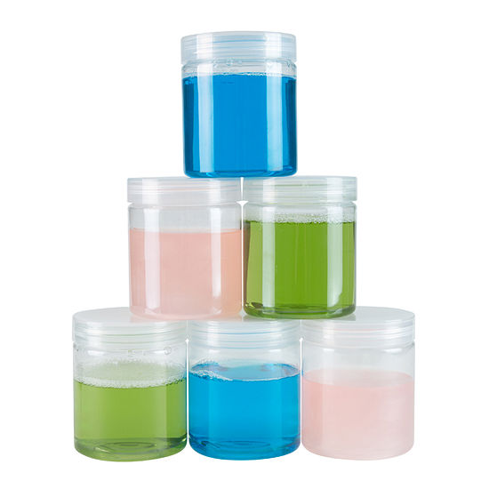 Stalwart 8 oz. Clear Plastic Jar Containers - 6-Pack