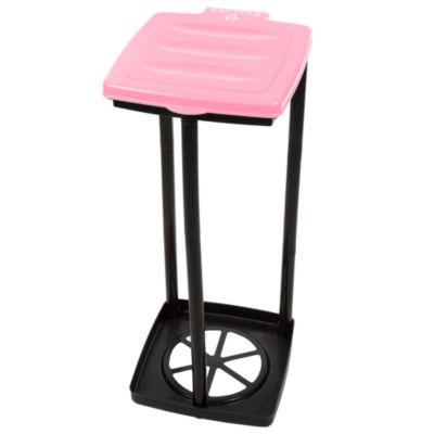 Wakeman Pink Portable Recycle Trash Bag Holder
