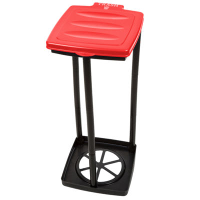 Wakeman Red Portable Recycle Trash Bag Holder