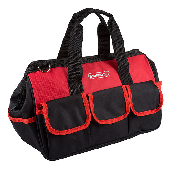 Stalwart 14 in. Wide-Mouth Soft Side Tool Bag