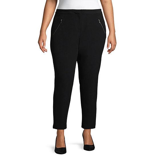 Worthington Straight Fit Ankle Pants - Plus