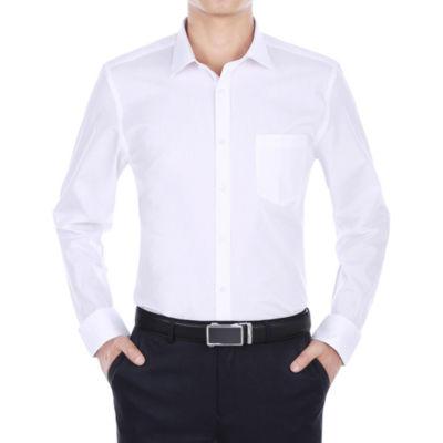 Verno Men's Wrinkle Resistant Trim Fit Long Sleeve Dress Shirt - Big & Tall