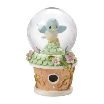 Precious Moments  Mini Snow Globe  Bluebird Birdhouse